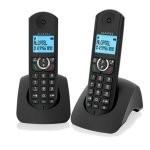 Alcatel F380-S Duo Teléfono DECT Negro