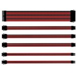 KIT EXTENSION CABLES COOLER MASTER ROJO/NEGRO