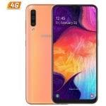 SMARTPHONE MÓVIL SAMSUNG GALAXY A50 CORAL-6.4'/16.2CM - CAM (25+5+8)/25MP - EXYNOS 9610 OCTA - 128GB - 4GB RAM - ANDROID - 4G