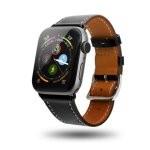 Unotec Correa Cuero Negra para Apple Watch 42/44mm