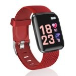 Fierro Sporty Reloj Smartwatch Curvo Rojo