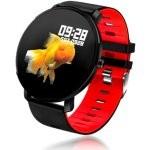 Fierro IP68 Alabama Reloj Smartwatch Rojo