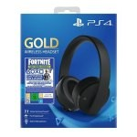 AURICULARESMICRO WIRELESS SONY PS4 GOLD + FORTNITE