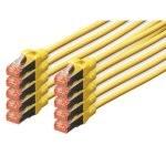 Digitus Cable de Red S-FTP Cat. 6 LSZH 0.5m Amarillo 10 Unidades