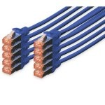 Digitus Cable de Red S-FTP Cat. 6 LSZH 0.5m Azul 10 Unidades