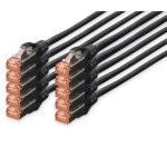 Digitus Cable de Red S-FTP Cat. 6 LSZH 1m Negro 10 Unidades