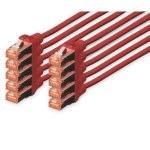 Digitus Cable de Red S-FTP Cat. 6 LSZH 2m Rojo 10 Unidades