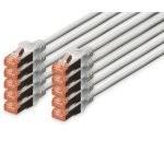 Digitus Cable de Red S-FTP Cat. 6 LSZH 5m Gris 10 Unidades