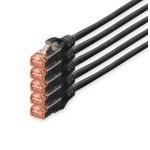 Digitus Cable de Red S-FTP Cat. 6 LSZH 10m Negro 5 Unidades