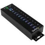 Startech Hub Industrial de 10 Puertos USB 3.0 con Protección Antiestática y Picos de 350W