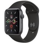Apple Watch Series 5 GPS 44mm Gris Espacial con Correa Deportiva Negra