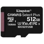 MEMORIA 512GB CANVAS SELECT PLUS MICRO SD KINGSTON