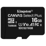 MEMORIA 16GB CANVAS SELECT PLUS MICROSD MULTI PACKS OF 2 KINGSTON