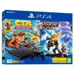 CONSOLA SONY PS4 1TB + CRASH TR + RATCHET
