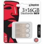 PACK 3 MEMORIAS USB 16GB 2.0 DATATRAVELER SE9 KINGSTON