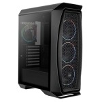 Aerocool Caja aero one eclipse black atx, 4x12cm