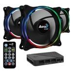 AeroCool Eclipse 12 Pro ARGB Pack 3 Ventiladores 120mm + H66F HUB + Control Remoto