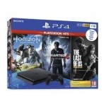 CONS. PS4 SLIM 1 TB + HORIZON + U4 + TLOU