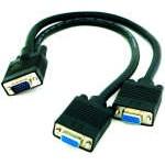 Cable Bifurcador SVGA HPDB15/M - 2 x HPDB15/H de 45 cm.