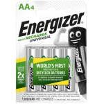 BLISTER 4 PILAS RECARGABLES UNIVERSAL POTENCIA 1300 MAH TIPO HR6 ENERGIZER