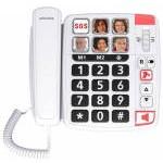 TELÉFONO SENIOR CON CABLE XTRA1110 BLANCO SWISSVOICE
