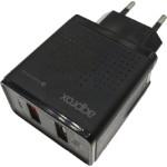 CARGADOR 2X USB APPROX PARED QC3.0