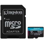KINGSTON MICROSDXC 512GB CANVAS GO PLUS 170R A2 U3 V30 CARD + ADAPTADOR
