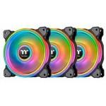 Thermaltake Riing Quad 14 RGB Radiator Pack 3 Ventiladores Edición Premium Negro