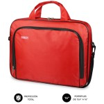 "SUBBLIM Maletín Ordenador Oxford Laptop Bag 15,4-16"" Red"