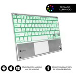 SUBBLIM Teclado Bluetooth Smart Backlit BT Keyboard Touchpad Silver