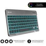 SUBBLIM Teclado Bluetooth Smart Backlit BT Keyboard Touchpad Grey