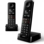 Philips D4702B/34 Teléfono Inalámbrico Duo Negro