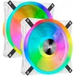 Corsair iCUE QL140 RGB PWM Dual Fan con Lighting Node Core Blanco 140mm