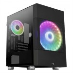 Aerocool Caja ATOMIC M-ATX, Vent 2x, RGB,Temp wind