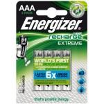 BLISTER 4 PILAS RECARGABLES EXTREME POTENCIA 800 MAH TIPO HR03 ENERGIZER