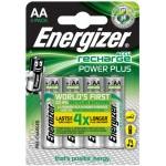 BLISTER 4 PILAS RECARGABLES POWER PLUS POTENCIA 2000 MAH TIPO HR6 ENERGIZER