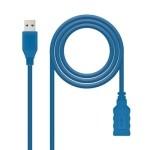 Nanocable Cable USB 3.0, A/M-A/H, Azul, 1 m