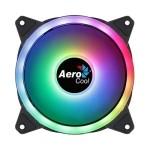 Aerocool Ventilador DUO12 argb 12CM, Doble ring