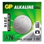 PILA ALCALINA GP LR44 A76 BLISTER / 1.5V G343