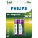 PILAS PHILIPS RECARGABLE R-6 2600MAH PACK 2