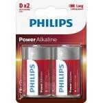 PILAS PHILIPS ALCALINA D-LR20 1.5V PACK 2