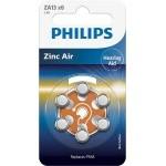 PILAS PHILIPS AUDIFONOS ZINC AIRE ZA13-PR48 PACK 6