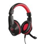 Trust GXT 404R Rana Auriculares Diadema Conector de 3,5 mm Negro, Rojo
